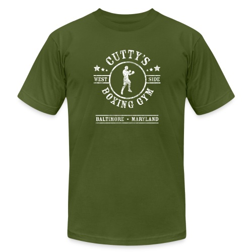 Cutty's Boxing Gym T-Shirt (Olive) - Men's Fine Jersey T-Shirt