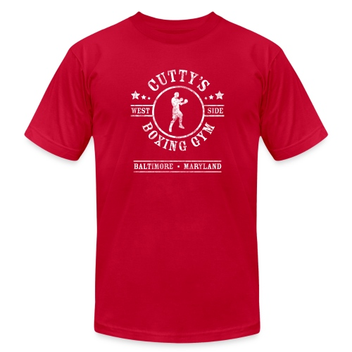 Cutty's Boxing Gym T-Shirt (Red) - Men's Fine Jersey T-Shirt