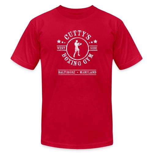 Cutty's Boxing Gym T-Shirt (Eggplant) - Men's  Jersey T-Shirt