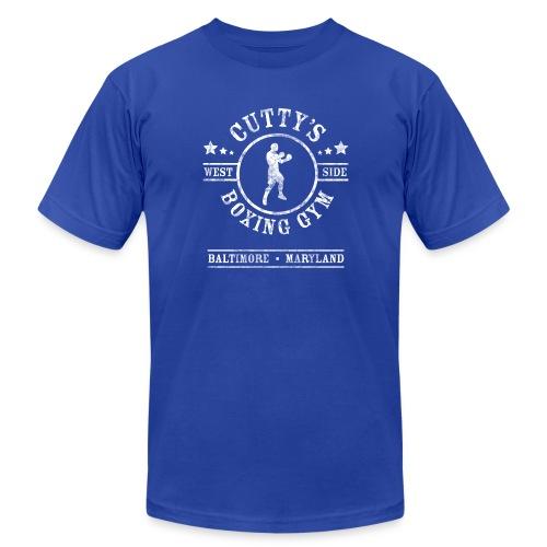 Cutty's Boxing Gym T-Shirt (Royal Blue) - Men's Fine Jersey T-Shirt