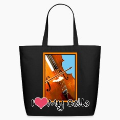 I Love My Cello Tote Bag