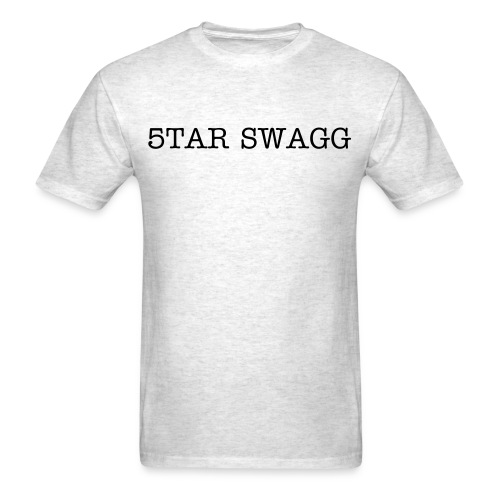 plain grey 5TAR SWAGG shirt - Men's T-Shirt