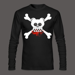 BEAR SKULL AND CROSSBONES - Men's Long Sleeve T-Shirt by Next Level