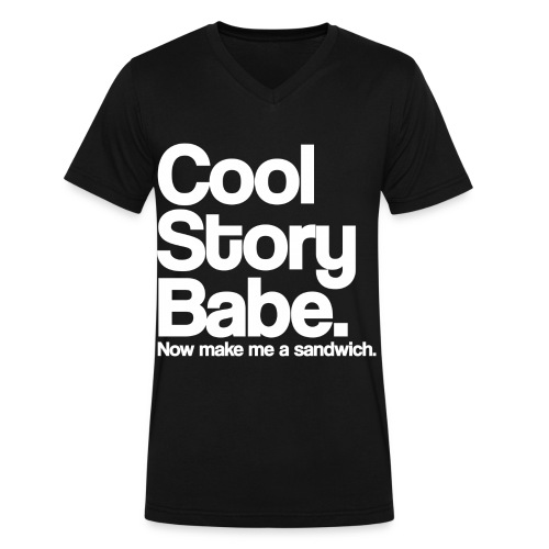 Cool Story Babe... - Men's V-Neck T-Shirt by Canvas