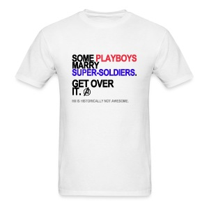 Some Playboys Marry Super-Soldiers Men's White - Men's T-Shirt