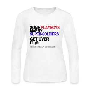 Some Playboys Marry Super-Soldiers Long Sleeve White - Women's Long Sleeve Jersey T-Shirt
