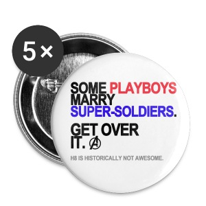 Some Playboys Marry Super-Soldiers Buttons - Small Buttons