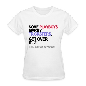 Some Playboys Marry Tricksters Women's White - Women's T-Shirt