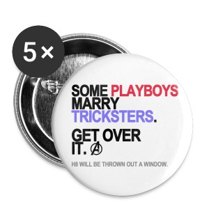Some Playboys Marry Tricksters Button - Small Buttons