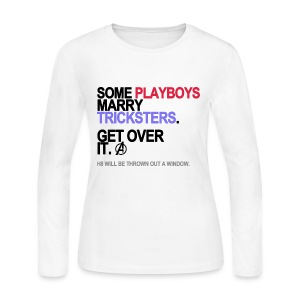 Some Playboys Marry Tricksters Long Sleeve White - Women's Long Sleeve Jersey T-Shirt
