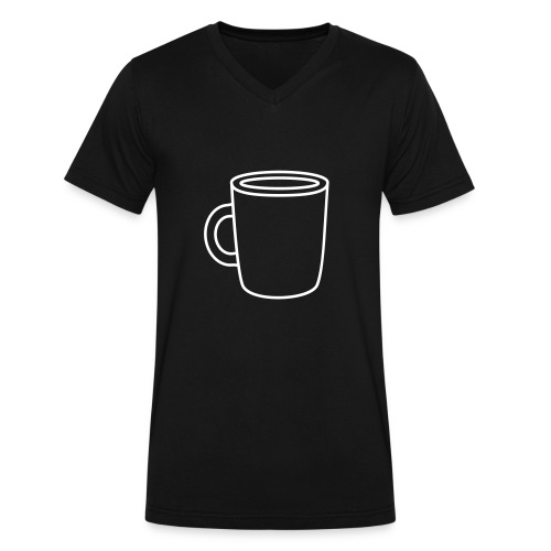 White Coffee - Men's V-Neck T-Shirt by Canvas