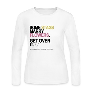 Some Stags Marry Flowers Long Sleeve White - Women's Long Sleeve Jersey T-Shirt