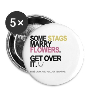 Some Stags Marry Flowers Buttons - Small Buttons