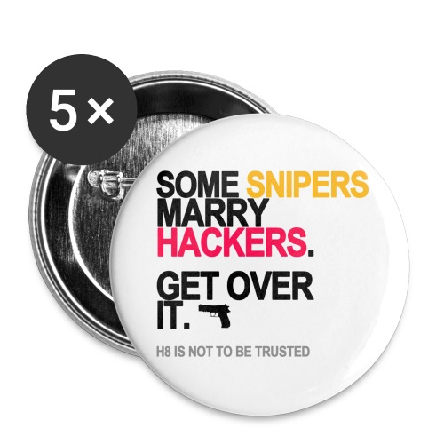 Some Snipers Marry Hackers Buttons - Small Buttons