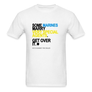 Some Marines Marry Very Special Agents Men's White - Men's T-Shirt