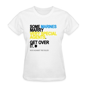 Some Marines Marry Very Special Agents Women's White - Women's T-Shirt