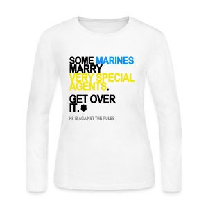 Some Marines Marry Very Special Agents Long Sleeve White - Women's Long Sleeve Jersey T-Shirt