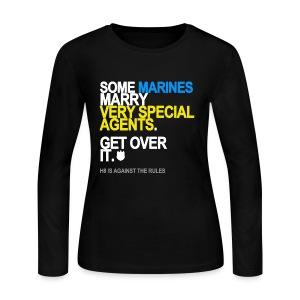 Some Marines Marry Very Special Agents Long Sleeve - Women's Long Sleeve Jersey T-Shirt