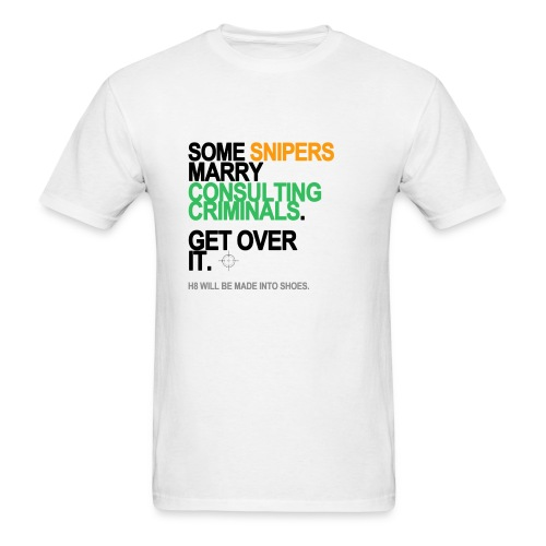 Some Snipers Marry Consulting Criminals Men's White - Men's T-Shirt