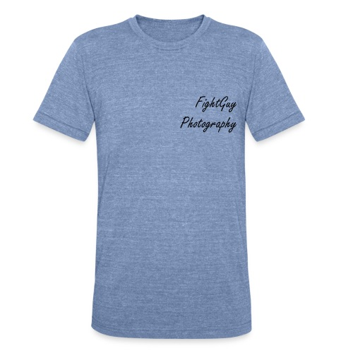 FightGuy Photography Men's T-shirt Blue - Unisex Tri-Blend T-Shirt
