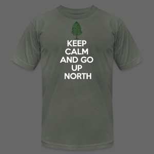 Keep Calm And Go Up North - Men's T-Shirt by American Apparel