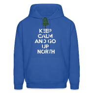 Hoodies ~ Men's Hoodie ~ Keep Calm And Go Up North