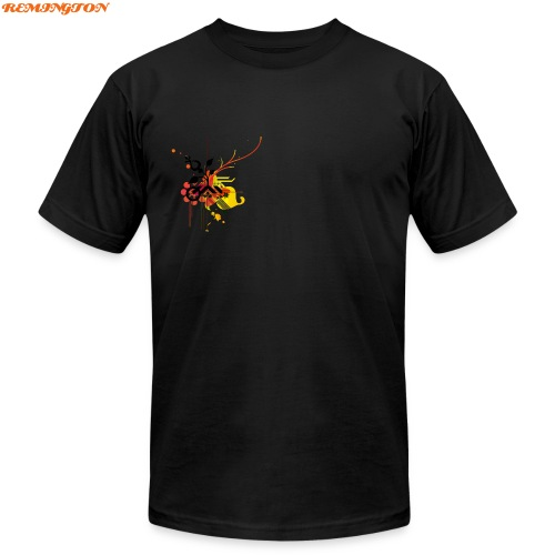 REMY TEE BLACK WITH SCREEN - Men's Fine Jersey T-Shirt