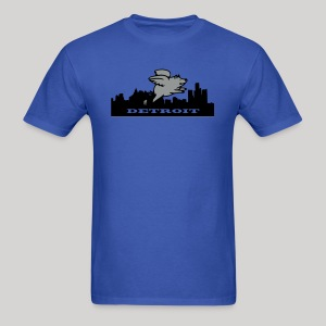 Detroit Flying Pig - Men's T-Shirt