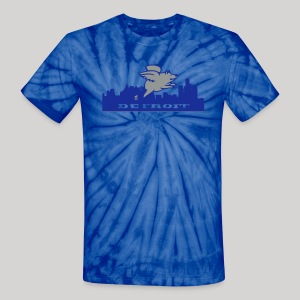 Detroit Flying Pig - Unisex Tie Dye T-Shirt