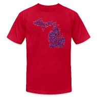 T-Shirts ~ Men's T-Shirt by American Apparel ~ Native Michigan