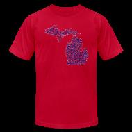 T-Shirts ~ Men's T-Shirt by American Apparel ~ Native Michigan