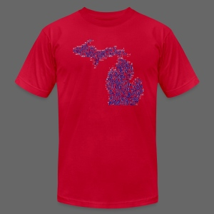 Native Michigan - Men's T-Shirt by American Apparel