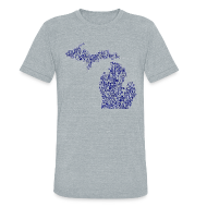T-Shirts ~ Unisex Tri-Blend T-Shirt by American Apparel ~ Native Michigan