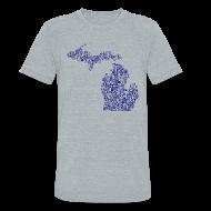 T-Shirts ~ Unisex Tri-Blend T-Shirt ~ Native Michigan