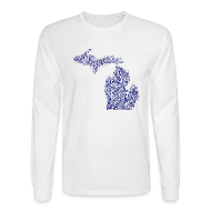 Long Sleeve Shirts ~ Men's Long Sleeve T-Shirt ~ Native Michigan