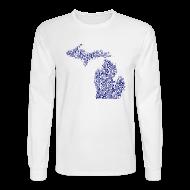 Long Sleeve Shirts ~ Men's Long Sleeve T-Shirt ~ Native Michigan