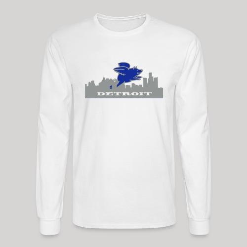 Detroit Flying Pig - Men's Long Sleeve T-Shirt
