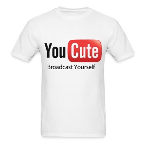 YouCute (Black Text) - Men's T-Shirt