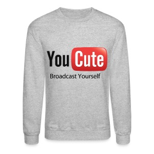 YouCute (Black Text) - Crewneck Sweatshirt