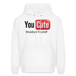 YouCute (Black Text) - Men's Hoodie