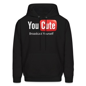 YouCute (White Text) - Men's Hoodie