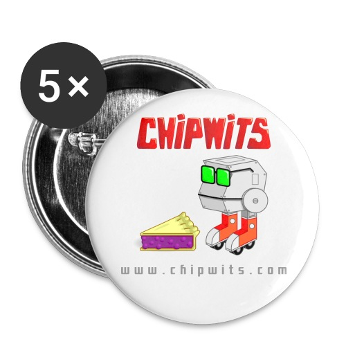 Large Buttons - Chipwit and pie - Buttons large 2.2'' (5-pack)