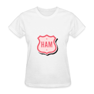 T-Shirts ~ Women's T-Shirt ~ Ham Badge Women's Standard Weight T-Shirt