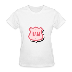 Ham Badge Women's Standard Weight T-Shirt - Women's T-Shirt