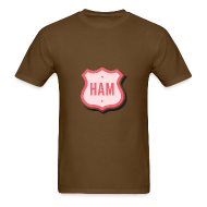 T-Shirts ~ Men's T-Shirt ~ Ham Badge Men's Standard Weight T-Shirt