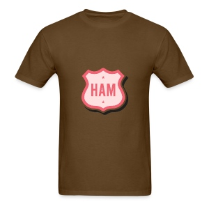 Ham Badge Men's Standard Weight T-Shirt - Men's T-Shirt