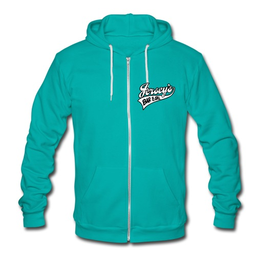 Womens Zip Up Hooded Shirt Front Logo - Unisex Fleece Zip Hoodie