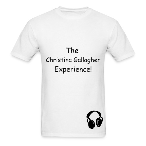 The Christina Gallagher Experience! T-SHIRT-WHITE - Men's T-Shirt