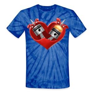 Heart - Unisex Tie Dye T-Shirt
