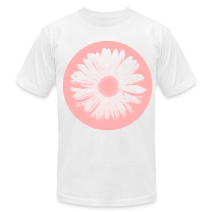 Pink Beige Circled Flower Graphic Print Premium T-Shirt - Men's T-Shirt by American Apparel